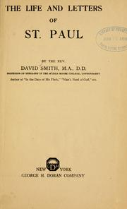 Cover of: The life and letters of St. Paul. by David Smith