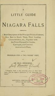 Cover of: little guide to Niagara falls containing a brief description of the principal points of interest ... | James Fraser Gluck