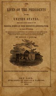 Cover of: The lives of the presidents of the United States