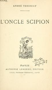 Cover of: L' oncle Scipion