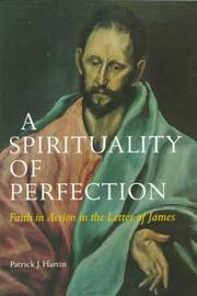 Cover of: spirituality of perfection | P. J. Hartin