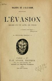 Cover of: L' évasion