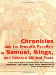 Chronicles and its synoptic parallels in Samuel, Kings, and related biblical texts by