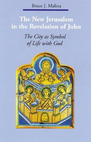 Cover of: The New Jerusalem in the Revelation of John: The City As Symbol of Life With God (Zacchaeus Studies: New Testament) | Bruce J. Malina