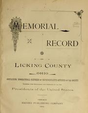 Cover of: Memorial record of Licking County, Ohio, containing biographical sketches of representative citizens of the county |
