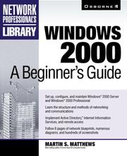 Cover of: Windows 2000