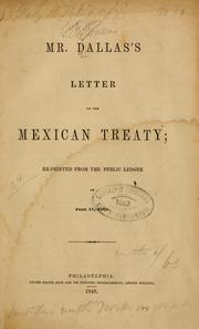 Cover of: Mr. Dallas' letter on the Mexican treaty