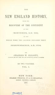 Cover of: The New England history