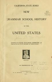 Cover of: New grammar school history of the United States