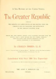 Cover of: new history of the United States. | Charles Morris