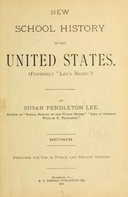 Cover of: New school history of the United States. | Susan (Pendleton). Mrs Lee