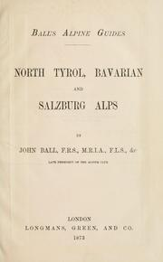 Cover of: North Tyrol, Bavarian and Salzburg Alps
