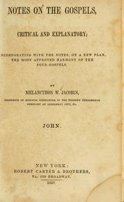 Cover of: Notes on the Gospels