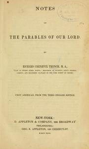 Cover of: Notes on the parables of Our Lord