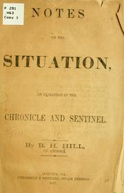 Cover of: Notes on the situation