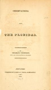 Cover of: Observations upon the Floridas