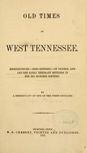 Cover of: Old times in west Tennessee. | Joseph S. Williams