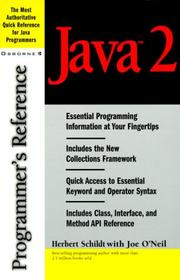 Cover of: Java 2 Programmer's Reference