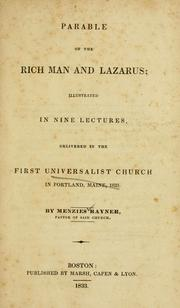 Parable of the rich man and Lazarus by Menzies Rayner