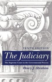 The judiciary by Henry Julian Abraham