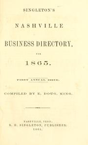 Cover of: Polk's Nashville (Davidson county, Tenn.) city directory ... 1865 by