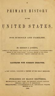 Cover of: primary history of the United States. | Benson John Lossing