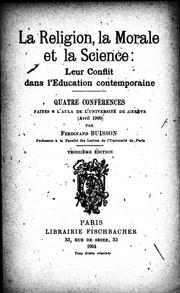 Cover of: La religion, la morale et la science