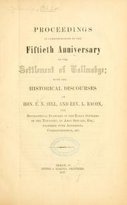 Cover of: Proceedigns in commemoration of the fiftieth anniversary of the settlement of Tallmadge | Tallmadge, Ohio