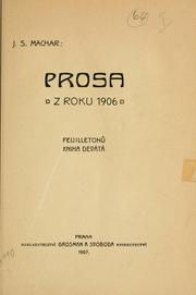 Cover of: Prosa z roku 1906