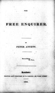 Cover of: The free enquirer