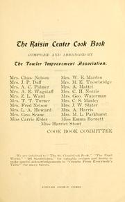 Cover of: raisin center cook book | Fowler improvement association, Fowler, Cal