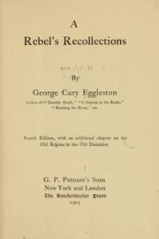 Cover of: A Rebel's recollections