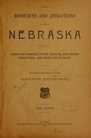 Cover of: resources and attractions of Nebraska | Union Pacific railroad company