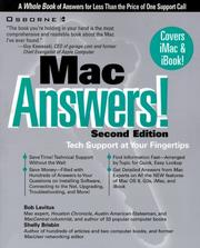 Cover of: Mac answers!