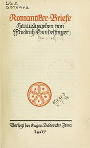 Romantiker Briefe by Friedrich Gundolf