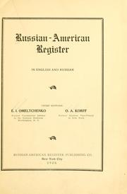 Russian-American register, in English and Russian