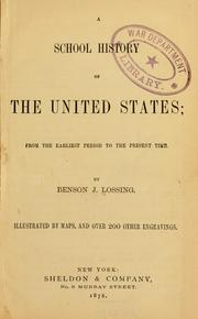 Cover of: A school history of the United States