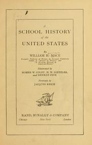 Cover of: A school history of the United States | William Harrison Mace