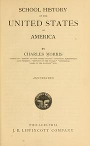 Cover of: School history of the United States of America