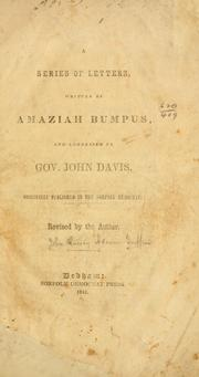 Cover of: A series of letters | John Quincy Adams Griffin