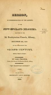 Cover of: sermon, in commemoration of the landing of the New-England Pilgrims. | Chester, John