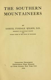 The southern mountaineers by Wilson, Samuel Tyndale
