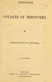 Cover of: Voyages and discoveries of the companions of Columbus