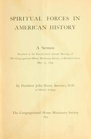 Cover of: Spiritual forces in American history