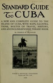 Cover of: Standard guide to Cuba by Charles B. Reynolds