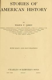 Cover of: Stories of American history | Wilbur Fisk Gordy