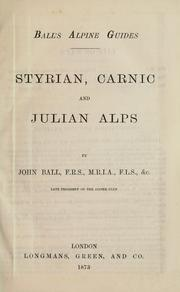 Cover of: Styrian, Carnic and Julian Alps