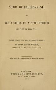 Cover of: Surry of Eagle's-nest, or, The memoirs of a staff-officer serving in Virginia