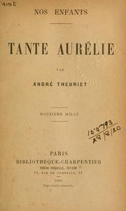 Cover of: Tante Aurélie