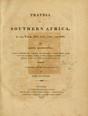 Cover of: Travels in southern Africa in the years 1803, 1804, 1805 and 1806